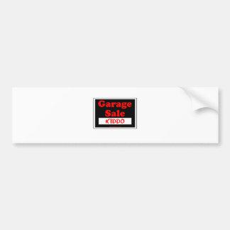 Garage Sale Kiddo Bumper Sticker