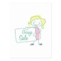 Garage Sale Postcard