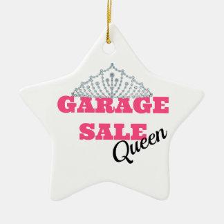 Garage Sale Queen Line Ceramic Ornament