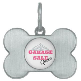Garage Sale Queen Line Pet Tag
