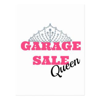 Garage Sale Queen Line Postcard