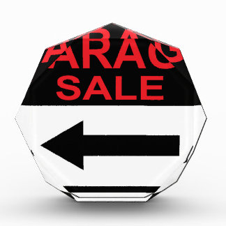 Garage Sale sign this way arrow Vector Award