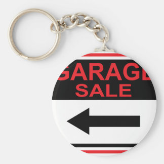 Garage Sale sign this way arrow Vector Keychain