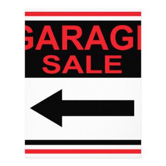 Garage Sale sign this way arrow Vector Letterhead