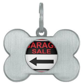 Garage Sale sign this way arrow Vector Pet ID Tag