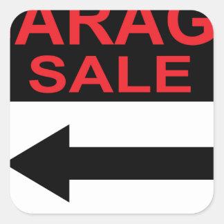 Garage Sale sign this way arrow Vector Square Sticker