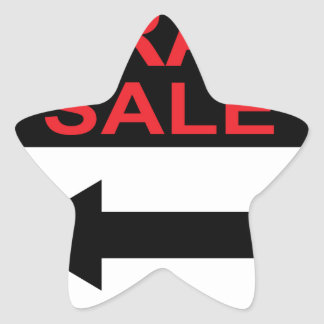 Garage Sale sign this way arrow Vector Star Sticker