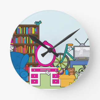 Garage Sale Stuff Round Clock