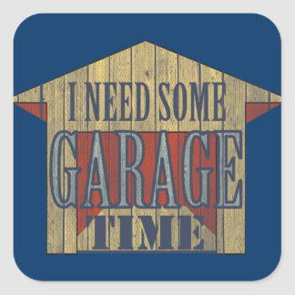 GARAGE TIME Toolbox Square Sticker