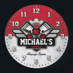 "Garage Tools Man Cave Personalizable Large Clock<br><div class=""desc"">A unique garage or man cave personalizable decorative wall clock. A great addition to any home,  garage,  shop or barn. Also makes a great gift idea for any father or husband.</div>"