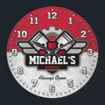 """Garage Tools Man Cave Personalizable Large Clock<br><div class=""""desc"""">A unique garage or man cave personalizable decorative wall clock. A great addition to any home,  garage,  shop or barn. Also makes a great gift idea for any father or husband.</div>"""
