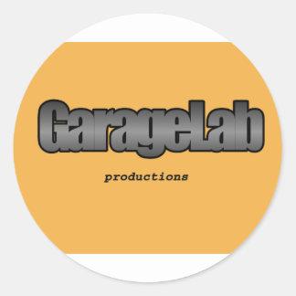 Garagelab Productions logo Classic Round Sticker