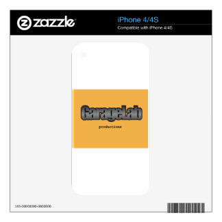 Garagelab Productions logo Skin For iPhone 4S