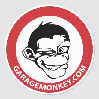 GarageMonkey Sticker