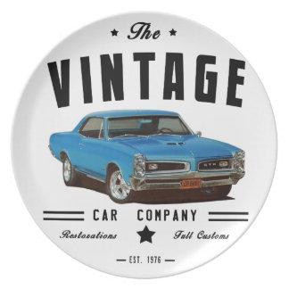 Garaje 1966 del vintage de Pontiac GTO Plato Para Fiesta
