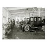 Garaje de la reparación del coche antiguo, 1900s t tarjetas postales
