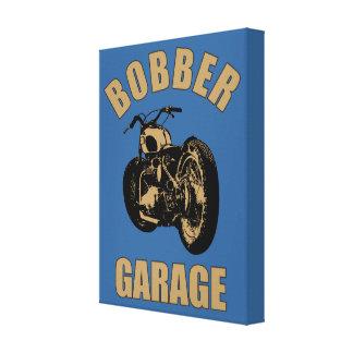 Garaje del Bobber Impresión De Lienzo