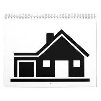 Garaje del chalet de la casa calendarios