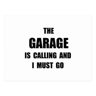 Garaje llamada postal