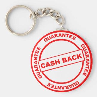 Garantía de la devolución de efectivo llavero redondo tipo pin