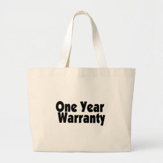 Garantía de un año bolsa de tela grande