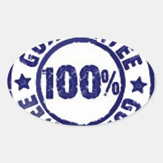 Garantía del 100% pegatinas de ovaladas