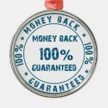 Garantía del reembolso del dinero adornos de navidad