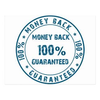 Garantía del reembolso del dinero postal