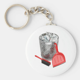 Garbage Bin And Dustpan Keychain
