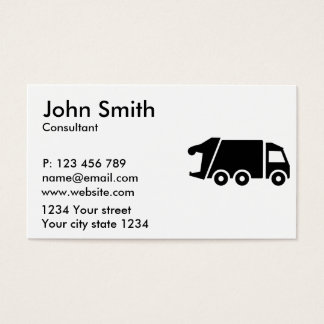 Garbage car truck business card