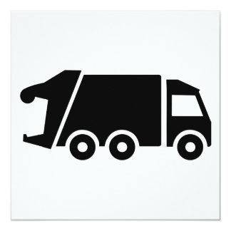 Garbage car truck card