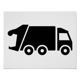 Garbage car truck poster