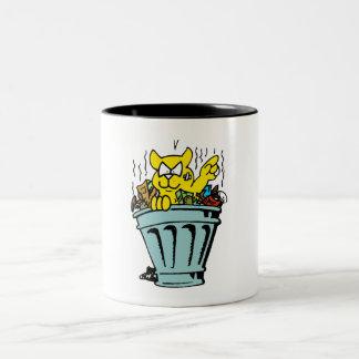 Garbage Cat Two-Tone Coffee Mug