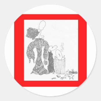 garbage classic round sticker