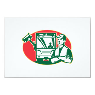 Garbage Collector and Side Loader Rubbish Truck Card