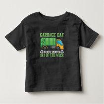 Garbage Day Truck Waste Disposal Dumpster Toddler T-shirt