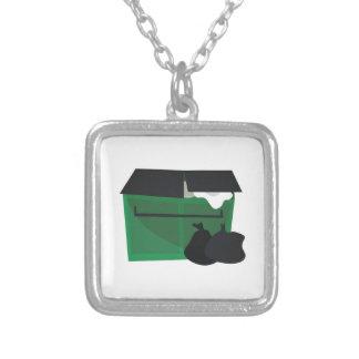 Garbage Dumpster Custom Necklace