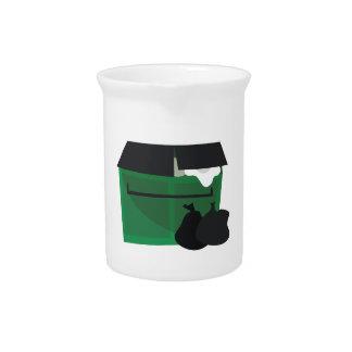 Garbage Dumpster Drink Pitchers