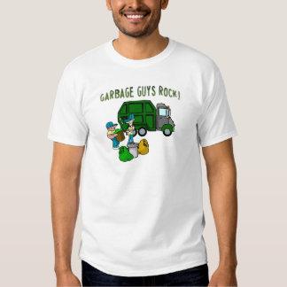 garbage guys rock with men garbage truck t-shirt