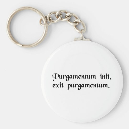 Garbage in, garbage out. keychain