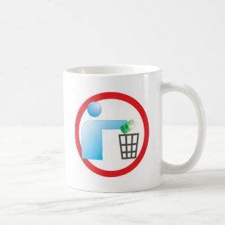 garbage in garbage plays icon citizen mug