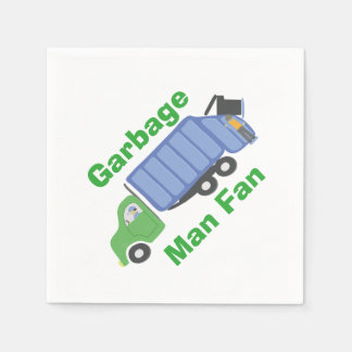Garbage Man Fan Paper Napkins