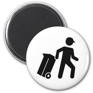 Garbage man magnet