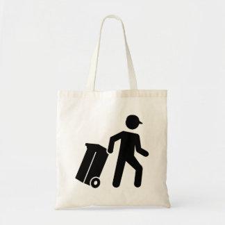 Garbage man tote bag