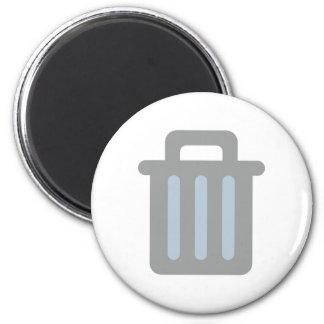Garbage pail trash is 2 inch round magnet