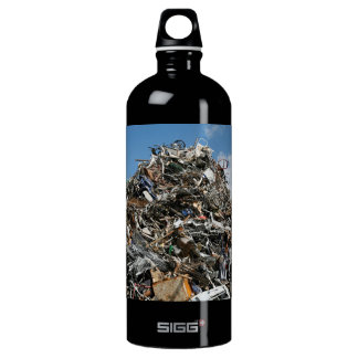 Garbage Pile at the Dump Water Bottle