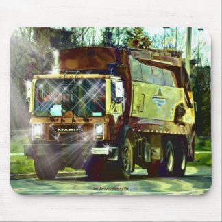 Garbage Refuse Dump Truck Driver's Mousepad