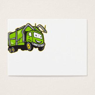 Garbage Rubbish Truck Cartoon Business Card