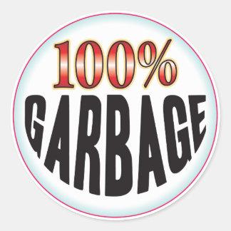 Garbage Tag Round Sticker