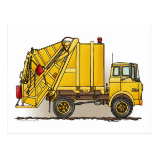 Garbage Truck 2 Construction Post card